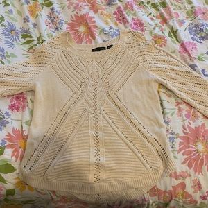 Jeanne Pierre Cream Sweater